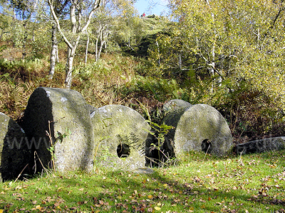 Abandoned millstones at Lawrence Field, near Hathersage, Dark Peak
