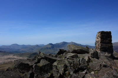 Far-reaching panoramic views from the summit of Carnedd Moel Siabod