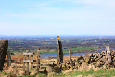 Looking across the Macclesfield plains to Jodrell Bank, May 2010