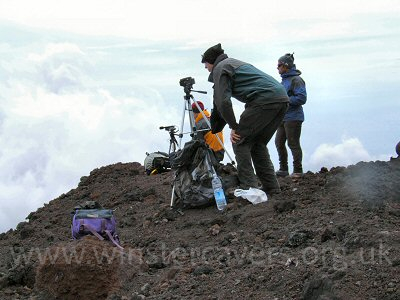 Filming the June 2008 flank eruption on Mount Etna from a safe distance