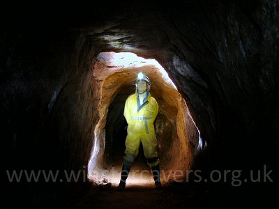 Main passage in the Hough Level, Alderley Edge Copper Mines