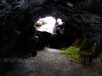 A section of lava cave on a hiking route from the Volcanoes National Park to the coast.