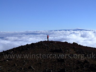 The view from the summit of Mauna Kea - September 2008