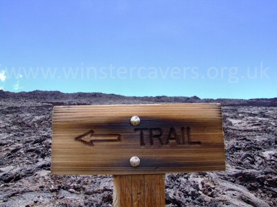 A useful interpretation panel on the route to Mauna Loa Summit Caldera