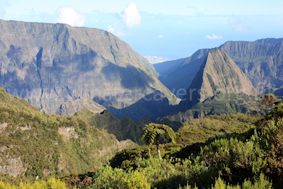 The view from the Petit Col in the Cirque de  Mafate, Ile de la Reunion, September 2009