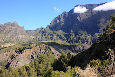 Looking towards Marla from La Nouvelle, Cirque de Mafate, Ile de la Reunion, September 2009