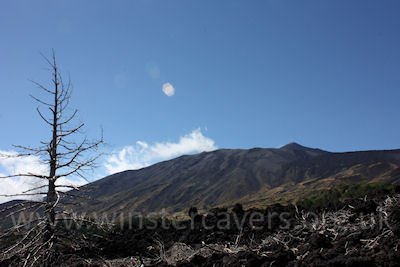 Mount Etna as viewed from Piano Provenzana - a lady in waiting?