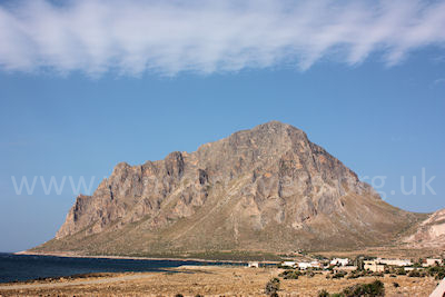 Monte Cofano, as viewed from Cornino, the start point for the walk.