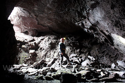 "Davide's ""new"" lava cave on Mount Etna, near Hotel Corsaro."