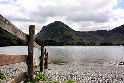 Looking along Buttermere to Fleetwith Edge and Haystacks