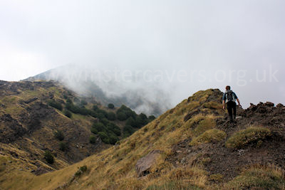 The Serra del Salifizio ridge - stay high, and watch out for the clouds