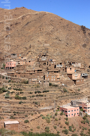 The Berber village of Matate, High Atlas, Morocco